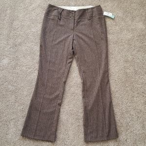 Maurices Heather Brown dress pants 5/6 Short